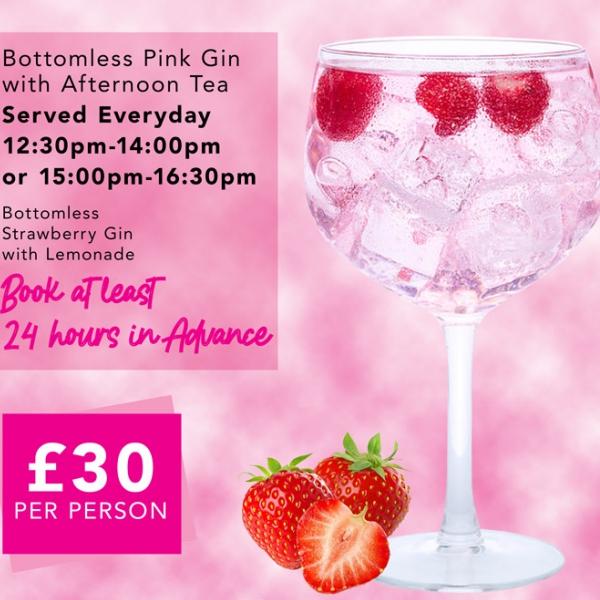 Bottomless Pink Gin Afternoon Tea